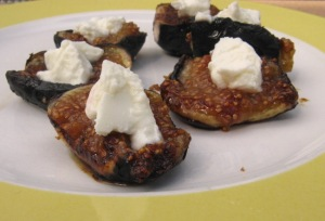 grilled figs with goat cheese